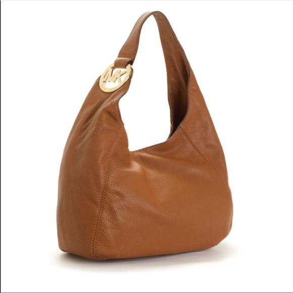 1a068e261eb4 MICHAEL Michael Kors Bags | Michael Kors Fulton Brown Leather Slouch ...